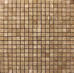 "Stone Mart USA's 5/8""x5/8"" Emperador Light Mosaic Polished Marble Tile"
