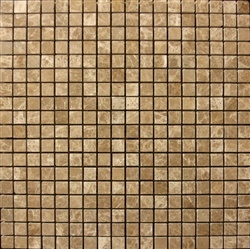 "Stone Mart USA's 5/8""x5/8"" Emperador Light Mosaic Polished Marble Tile"