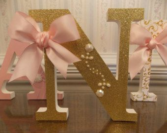 Ballerina Letter Set Personalized Wooden by CountingOurBlessings