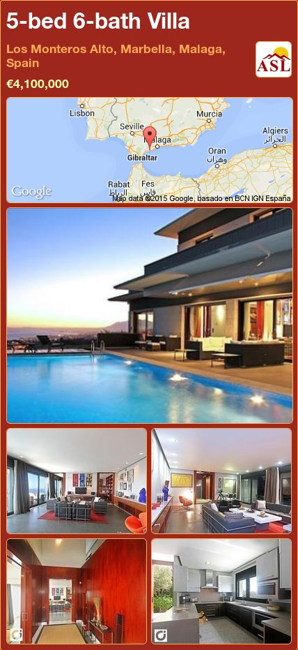 5-bed 6-bath Villa in Los Monteros Alto, Marbella, Malaga, Spain ►€4,100,000 #PropertyForSaleInSpain