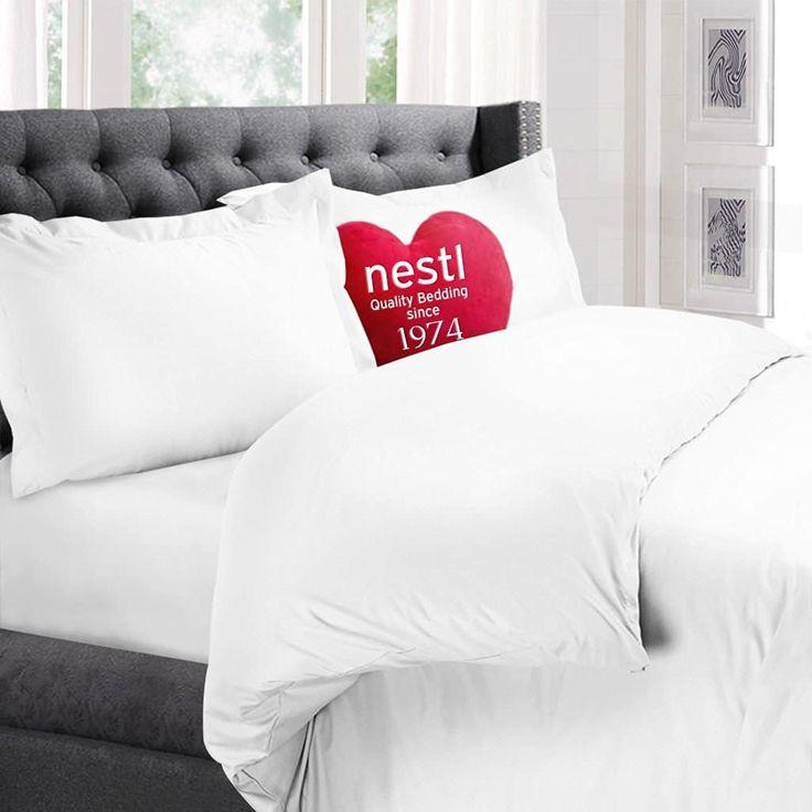 Nestl Bedding Microfiber Duvet Cover Queen Size