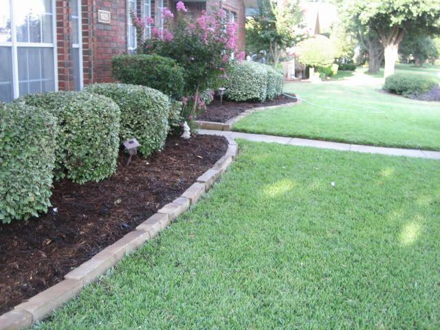 Landscape Pavers Edging : Stone edging landscape landscaping gardens