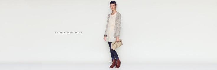collants bleus/astoria shirt dress