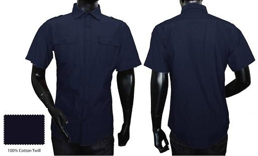 beautiful new navy woven shirt from Rag Dynasty