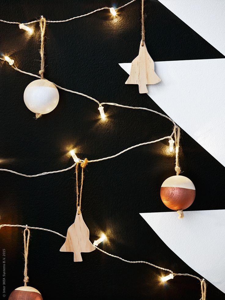 ingen jul utan julpyssel led ljusslingan s rdal med 24 ljus ger granen ett effektfullt sken. Black Bedroom Furniture Sets. Home Design Ideas
