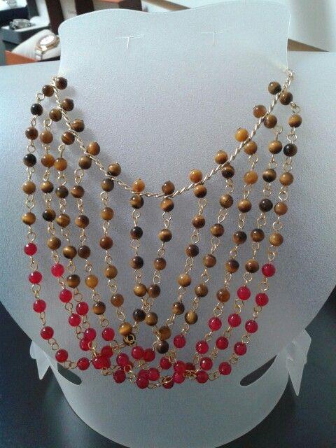 Collar de monet vintage 8 hilos de oro