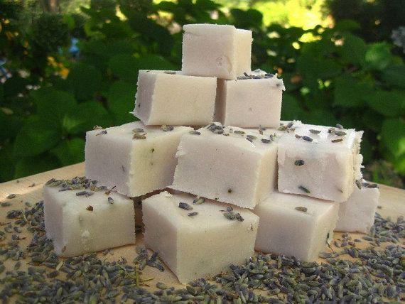 Lavender Vanilla Sugar Scrub Cubes by OakStreetSoap on Etsy, $3.25