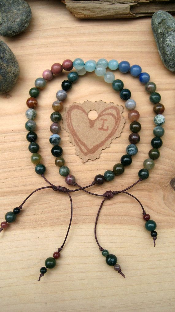Yoga Mala Bracelet Set Prayer Bead Bracelet Set Boho