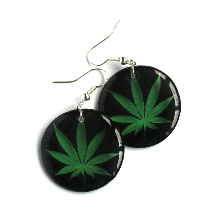 A personal favourite from my Etsy shop https://www.etsy.com/listing/238299210/cannabis-earrings-transparent-earrings