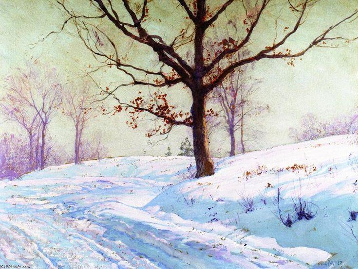Les feuilles persistantes, peinture de Walter Launt Palmer (1854-1932, United States)