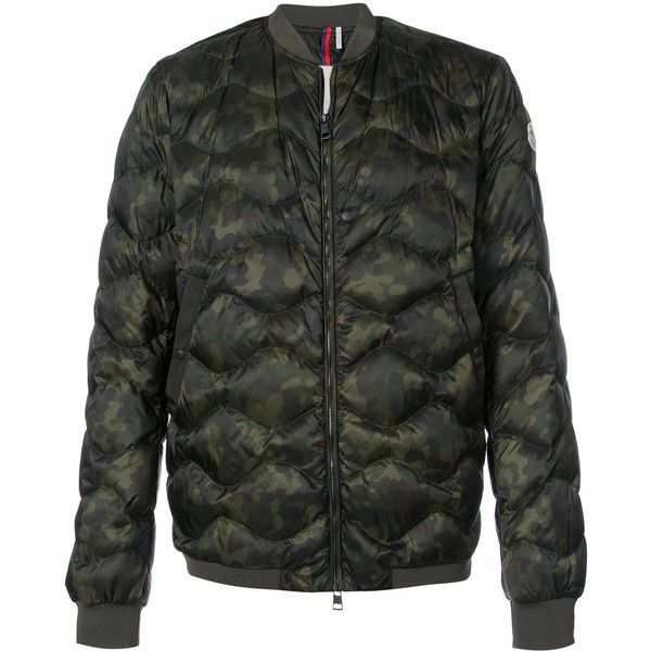 Moncler Millau quilted jacket ($1,390) ❤ liked on Polyvore featuring men's fashion, men's clothing, men's outerwear, men's jackets, green, mens green quilted jacket, mens green bomber jacket, mens camo jacket, mens green military jacket and mens leather sleeve jacket