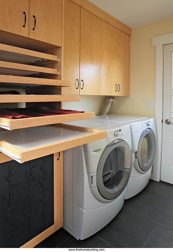 Built In Sweater Drying Racks In The Laundry Room Find A House Plan