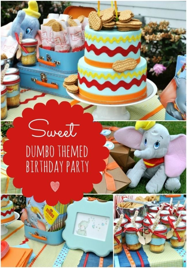 Dumbo Themed Boys Birthday Party www.spaceshipsandlaserbeams.com