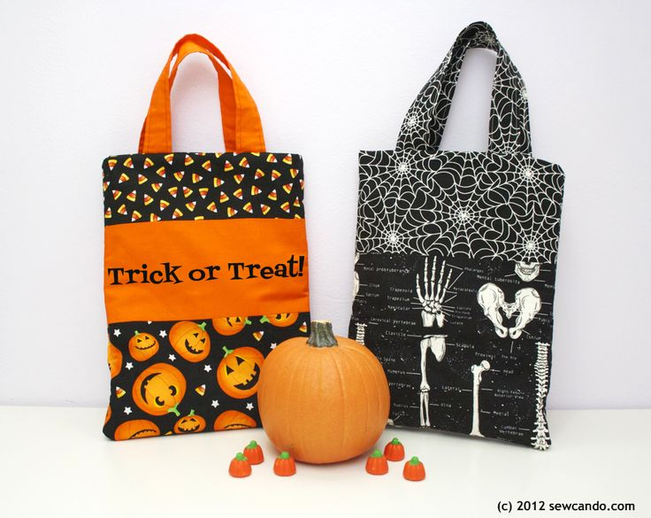 home sewed halloween candy bags - Google Search