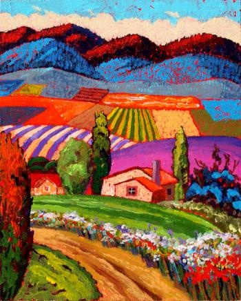 This is not a quilt but wouldn't it be awesome as one?.....The Road to Walter's House - Gene Brown