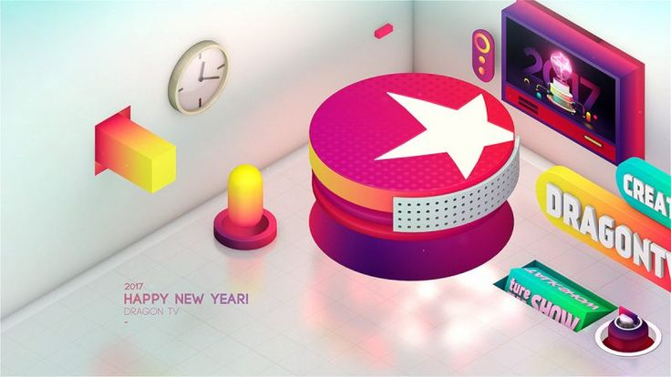 #DOTD DRAGON TV  2017 NEW YEAR ID by DONERZOZO / 董照展 #China #Video