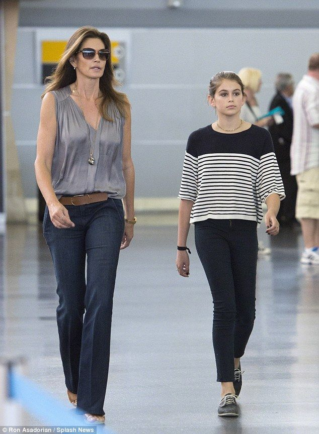 Like mother like daughter: Kaia could easily follow in her mother's fashion footsteps...
