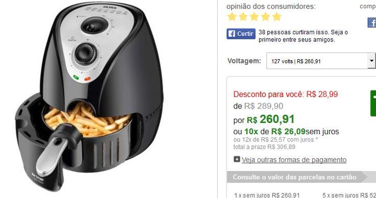 Fritadeira Sem Óleo Air Fryer Ultra AF06 - Mondial << R$ 26091 em 10 vezes >>