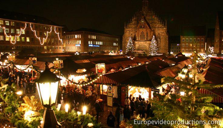 Christkindlesmarkt – Weihnachtsmarkt in Nürnberg in Deutschland