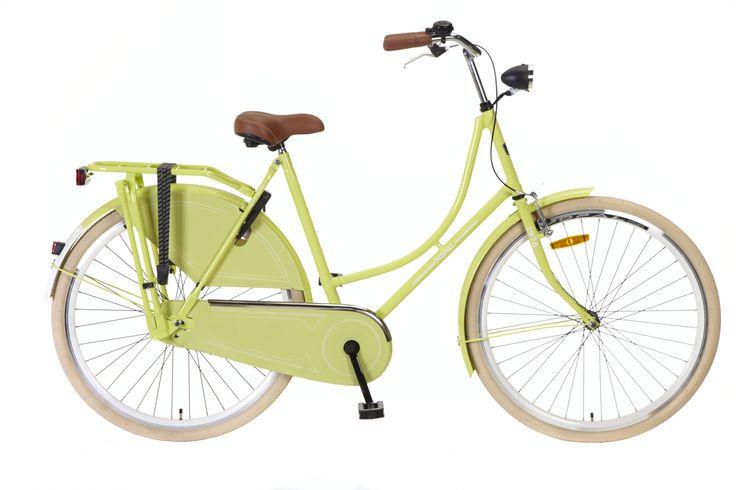 bicicleta omafiets 28 amarillo verdoso. bicicleta holandesa