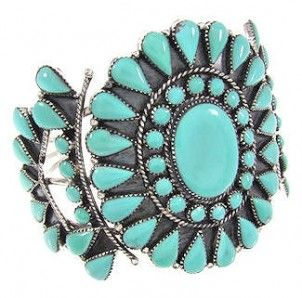 Turquoise Jewelry | Southwest Jewelry | Silver Turquoise Bracelet