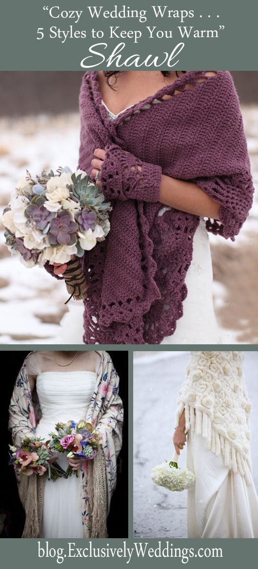 Cozy Wedding Wraps - 5 Stylish Choices to Keep You Warm - Read more: http://blog.exclusivelyweddings.com/2014/10/12/cozy-wedding-wraps-5-stylish-choices-to-keep-you-warm/