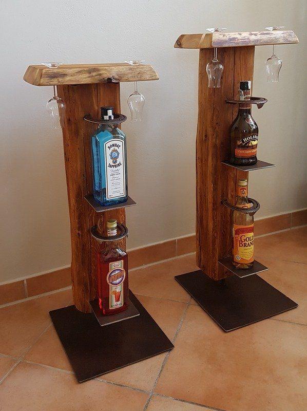 Weinstander Und Whiskystander Aus Alten Holzbalken In 2020 Alte Holzbalken Weinstander Holz Holzbalken