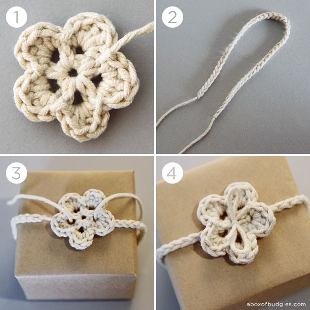 How to crochet a gift tie