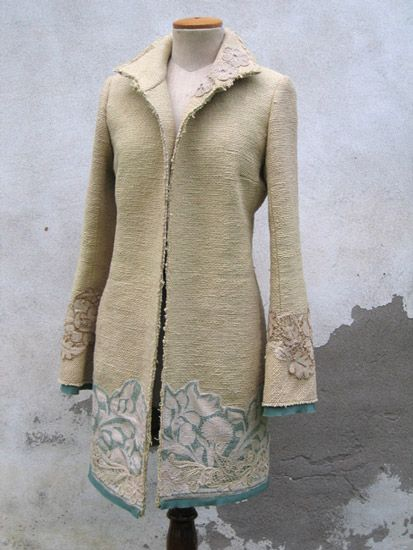 Indalia, Italy... the most amazing collection of coats and jackets.  What a talent.