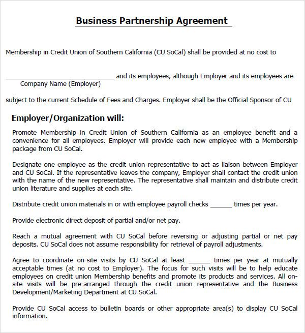 18 best partnership Agreement Templates images on Pinterest - partnership agreement