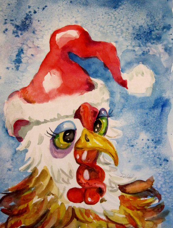 Hey, I found this really awesome Etsy listing at https://www.etsy.com/listing/166195945/santa-chicken-original-rooster