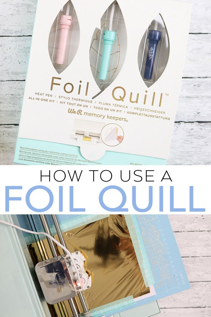 How To Use A Foil Quill On A Cricut Quilling Cricut Craft Foil