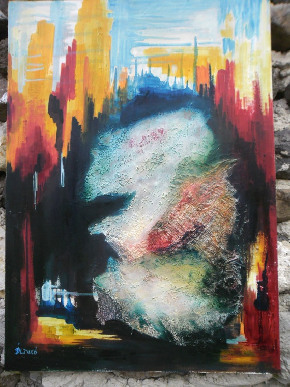 PentimentoOil original paintingMixed mediaAbstract by icsegold, $450.00