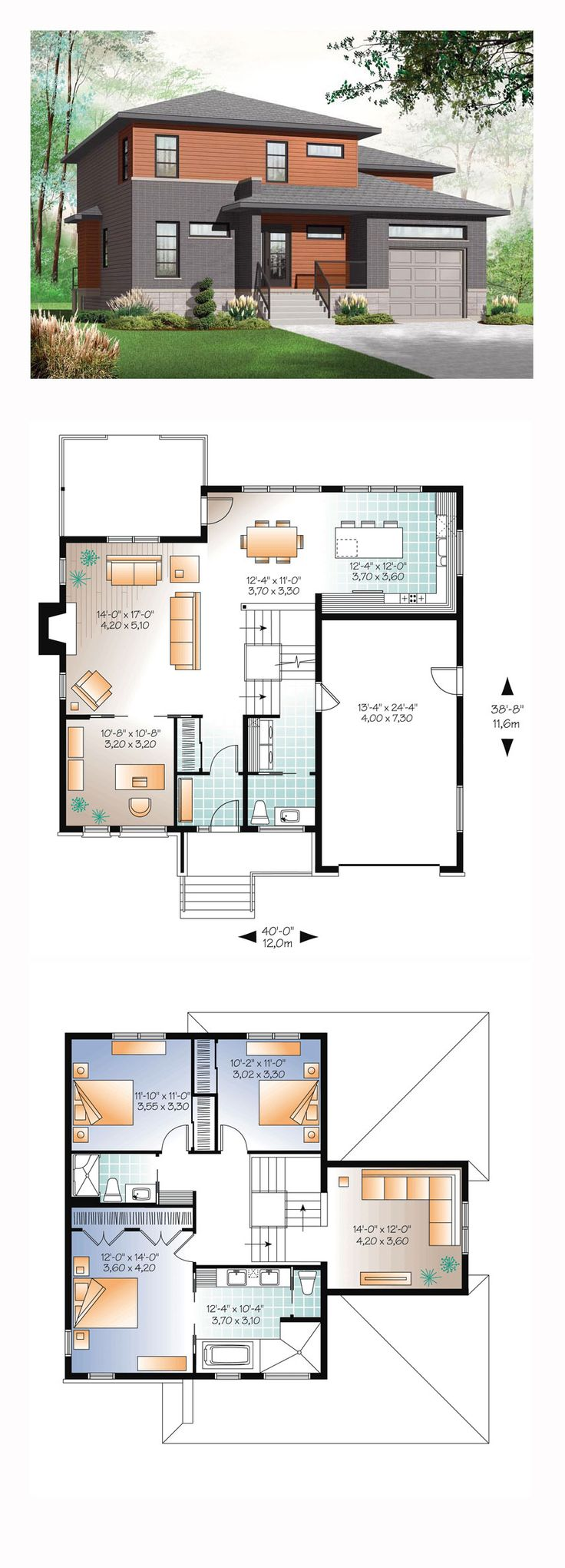 687 best plans for apartments houses images on pinterest Contemporary house blueprints