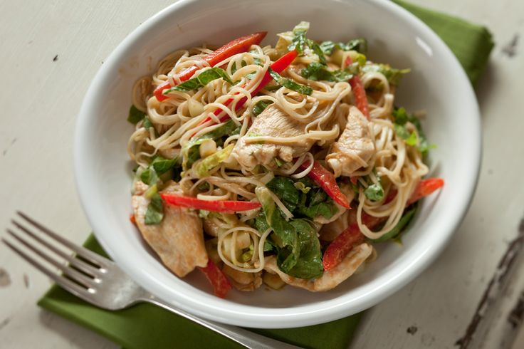 Asian Chicken Noodle Salad With Ginger-Peanut Dressing ...