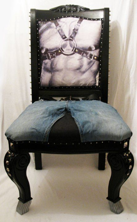 Tom of Finland inspired chair