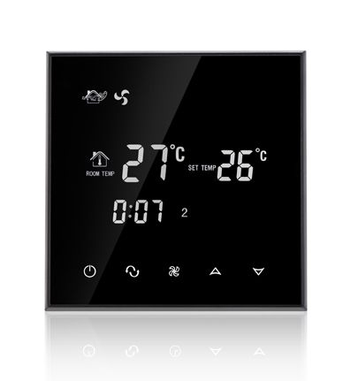 Water system wind system Programmable Touch Screen Thermostat with fan coil unit
