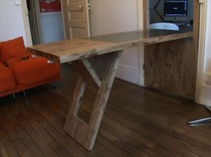 diy comment fabriquer une table pliable avec une porte int meubles fabrication. Black Bedroom Furniture Sets. Home Design Ideas