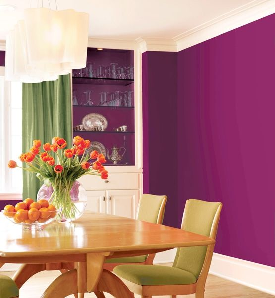 26 best images about plum berry green on pinterest for Bold dining room colors