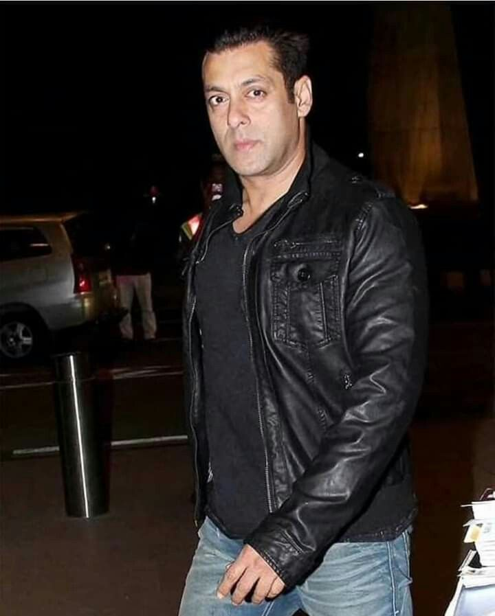 Pin by sayma on Salman khan | Leather jacket, Shirt ...