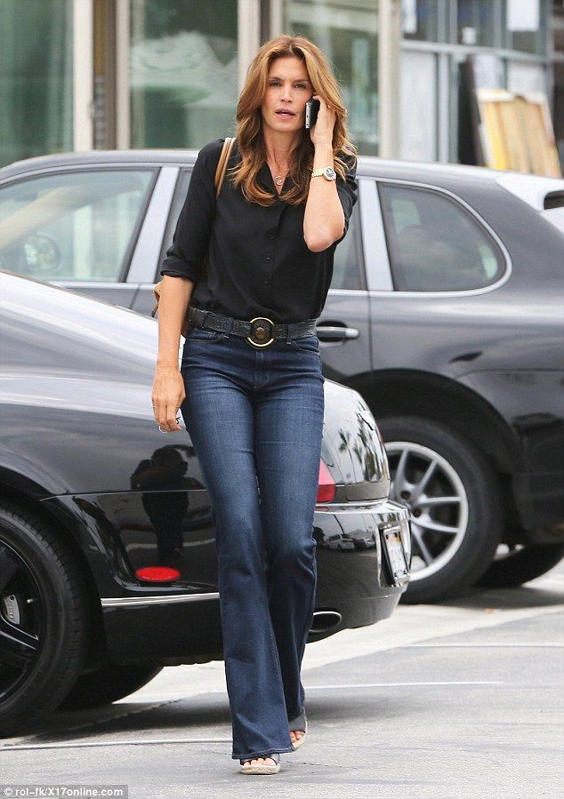 Back to basics: Cindy Crawford was the essence of casual chic as she ran errands in Malibu...