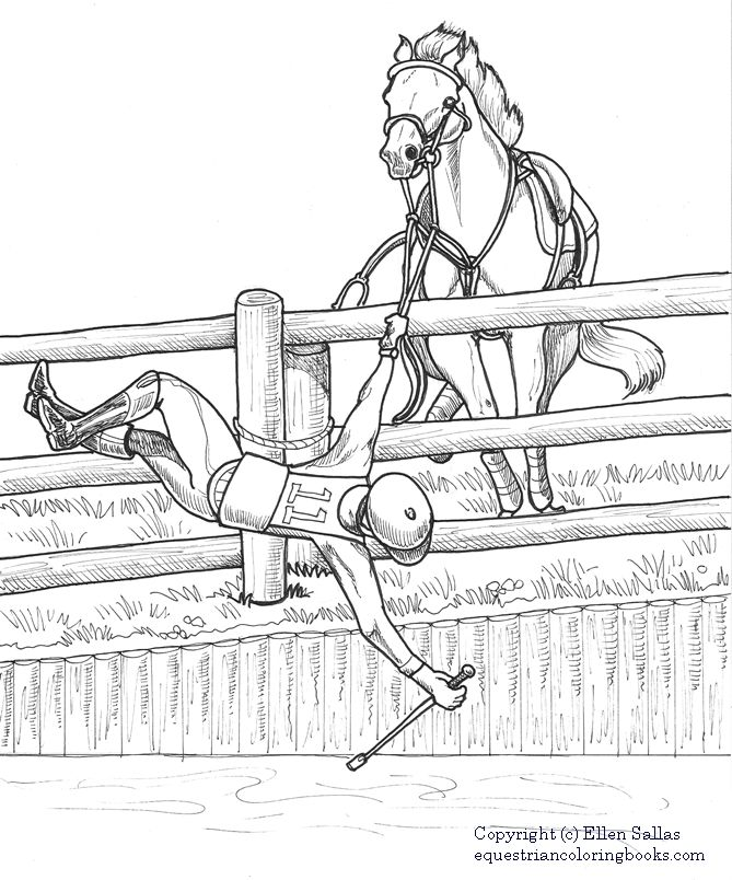 eventing coloring pages - photo#4