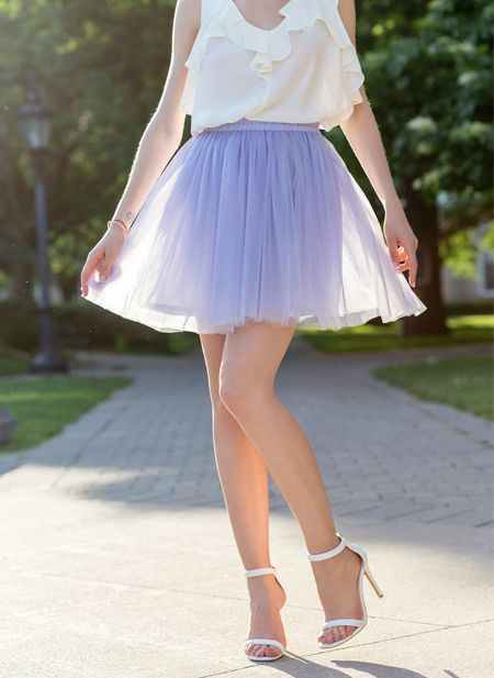 The JESSICA tulle skirt. Perfect mini skirt for romantic looks and high heels. Because tulle skirt should be fun!