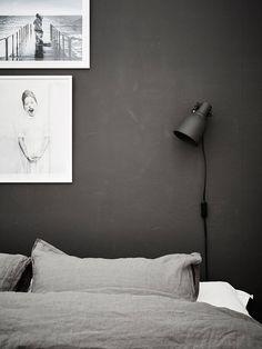 Lovely dark bedroom  walls
