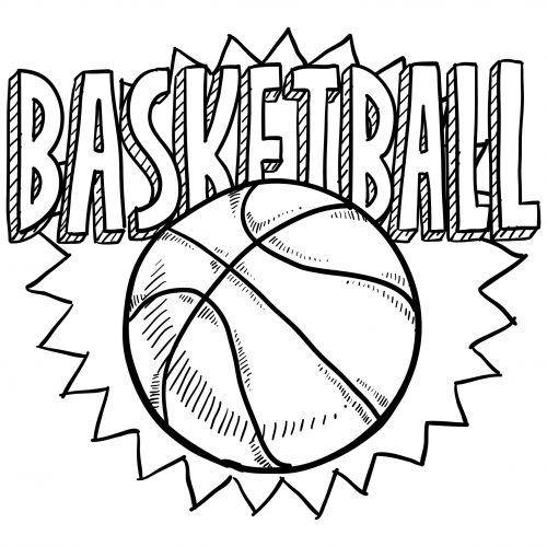 sports coloring pages basketball 2 - Free Printable Sports Coloring Pages