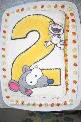 Homemade 2nd Birthday Toopy and Binoo Cake: I made this 2nd Birthday Toopy and Binoo cake for my niece. We couldn't decide if we were going to do a number theme cake for her or not.  Her favorite