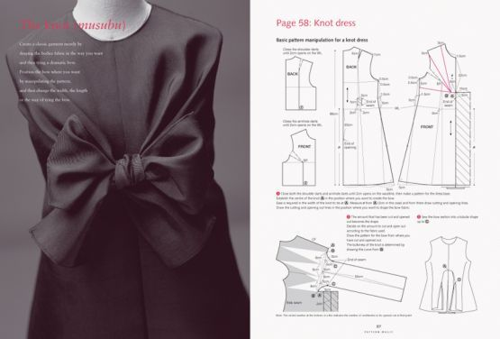 knot/bow dress from pattern magic