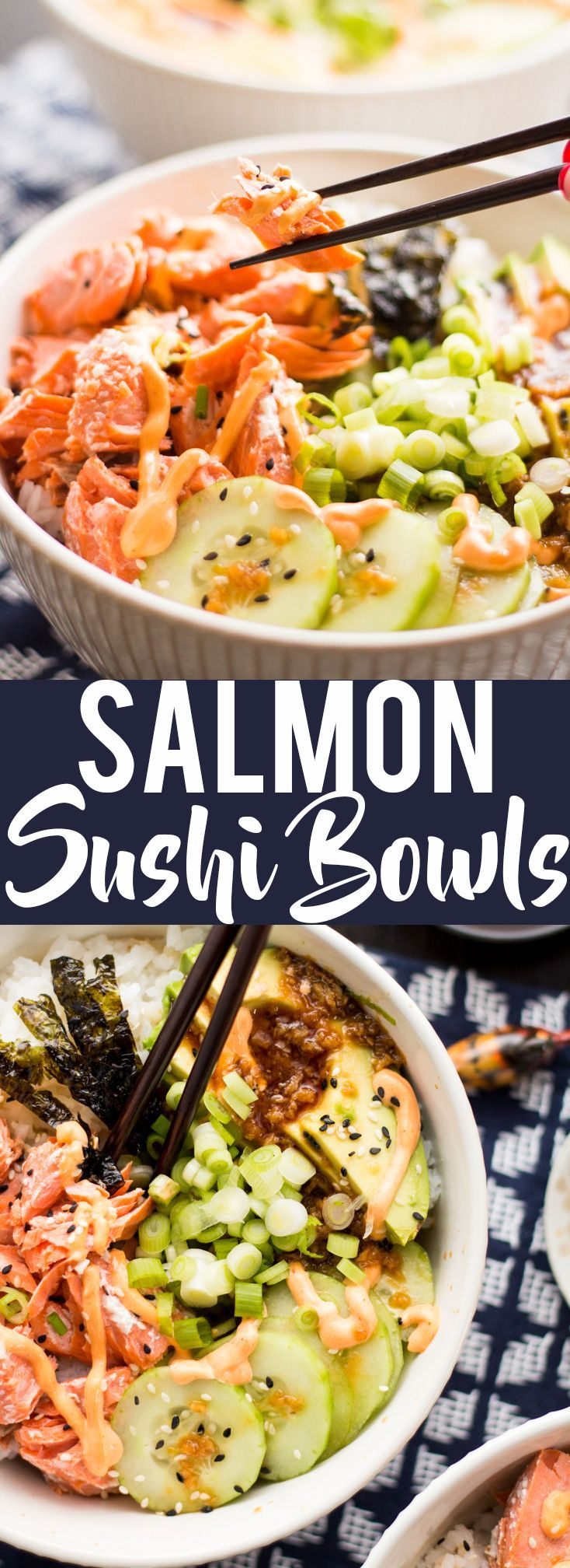 Salmon Recipes | Sushi | Sushi Bowls #ad