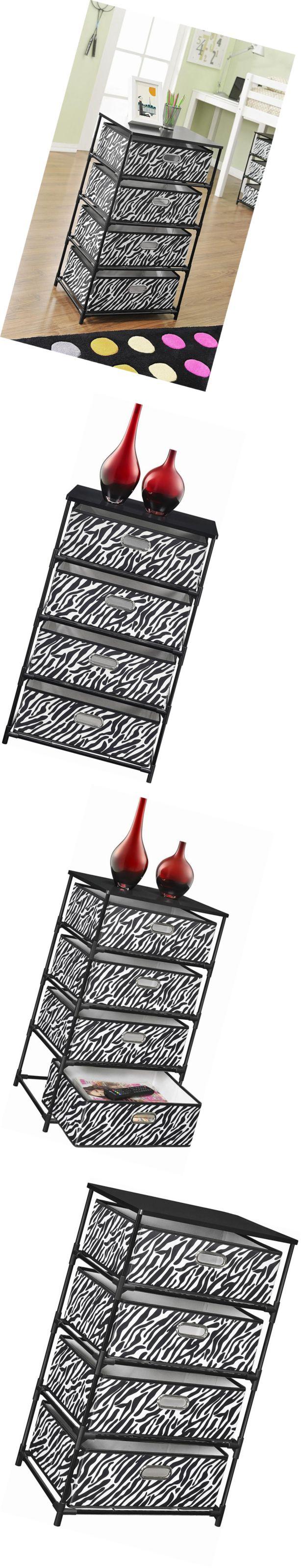 Storage Units 134651: Altra Sidney 4-Bin Storage End Table, Zebra Black -> BUY IT NOW ONLY: $42.74 on eBay!