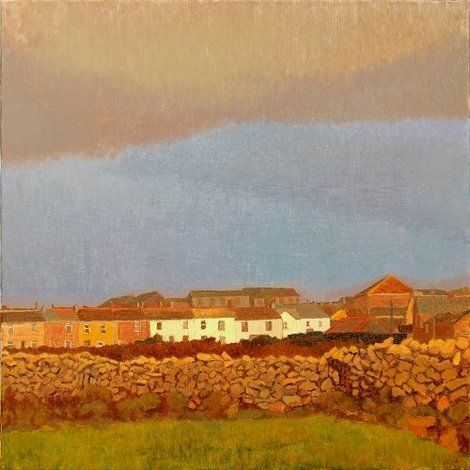 Tom Henderson Smith, Late sunshine before rain, St Just 80 (H) × 80 (W) cms on ArtStack #tom-henderson-smith #art
